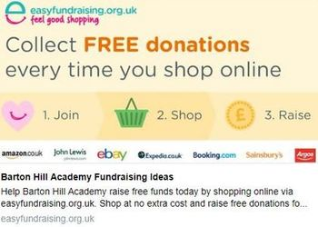 Easy Fundraising - receive a £5 bonus donation for Barton Hill Academy