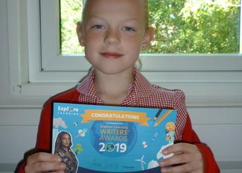 Cherry class pupil achieves certificate