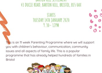 SFSC Parenting Programme - Tues 14th January 2020