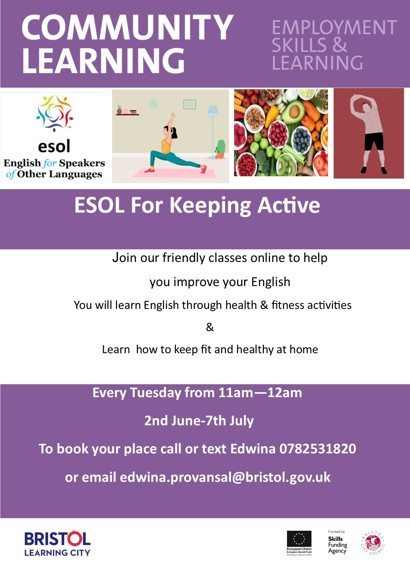 ESOL for keeping active publicity