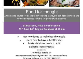 A new fun online course 'Food for Thought' Do you have diabetes?