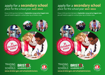 Year Six - Apply for a Secondary School place (by 31/10/20)
