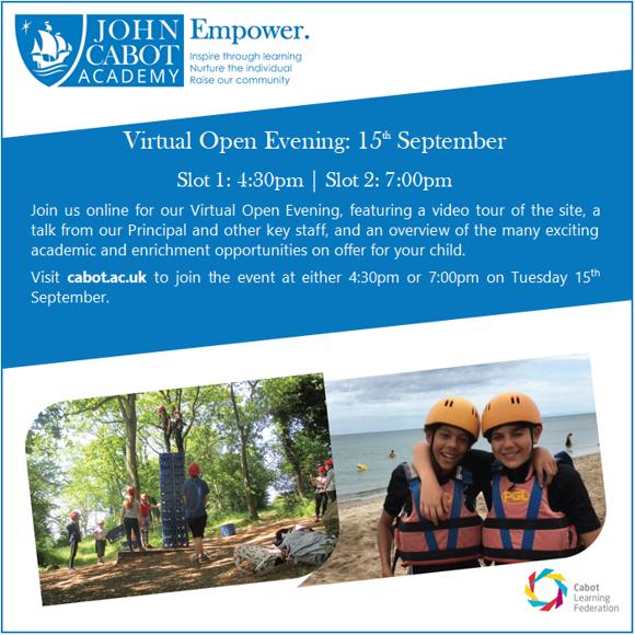 Open Evenings Advert