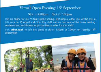 Open Afternoons/Virtual Open Evening - John Cabot Academy