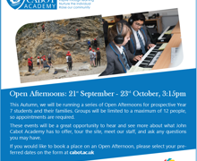 Open Afternoons Advert