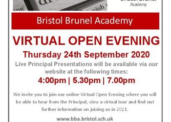 Bristol Brunel Academy - Virtual Open Evening