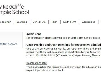 Virtual Event - St Mary Redcliffe & Temple School (prospective Yr7)