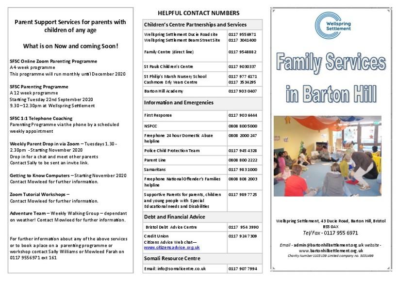 Barton Hill Fmily service leaflet