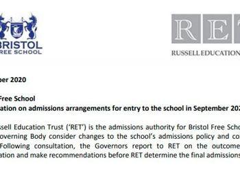 Bristol Free School Consultation on Proposed Admissions Arrangements - September 2022