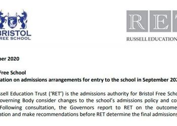 Bristol Free School Consultation on Proposed Admissions Arrangements - September 2022